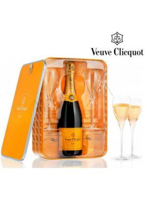 Veuve Clicquot  Ponsardine Caja + 2 copas